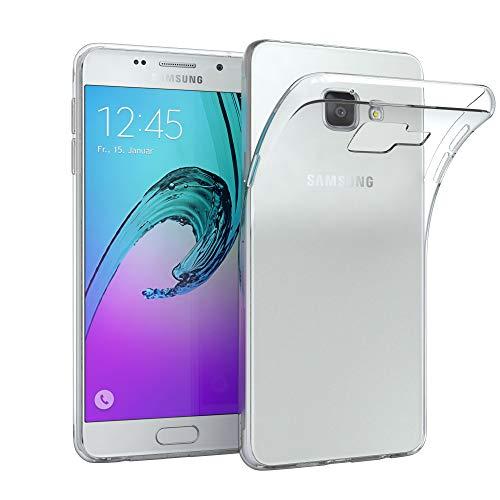 EAZY CASE Hülle für Samsung Galaxy A3 (2016) Schutzhülle Silikon, Ultra dünn, Slimcover, Handyhülle, Silikonhülle, Backcover, Durchsichtig, Klar Transparent