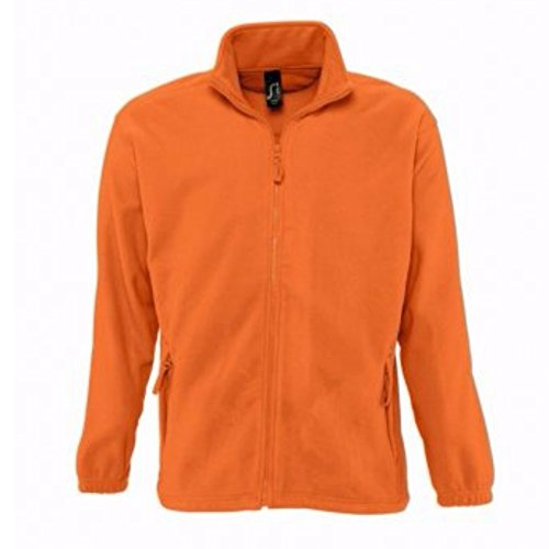 SOLS - Felpa Invernale da Esterni con Zip - Uomo Arancio