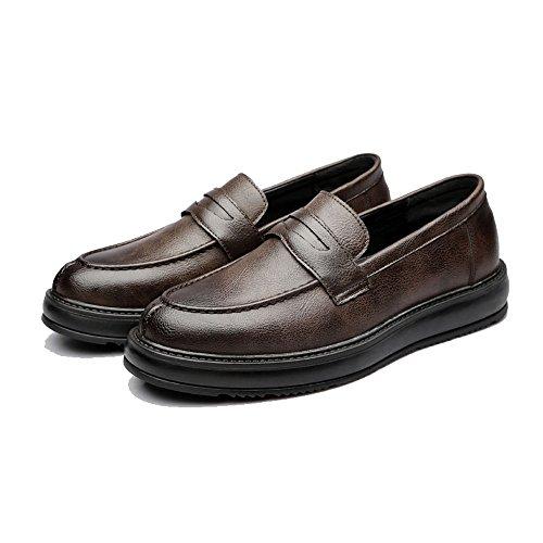Scarpe da lavoro formali da uomo classic slip-on mocassini in pelle pu casual outsole oxford 2018 scarpe da uomo (color : marrone, dimensione : 38 eu)