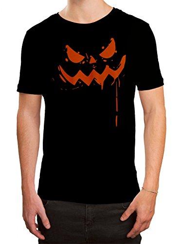 T-Shirt   Halloween-Kürbis   Grusel   Kostüm   Herren   Shirt, Farbe:Schwarz (Deep Black L190);Größe:5XL ()