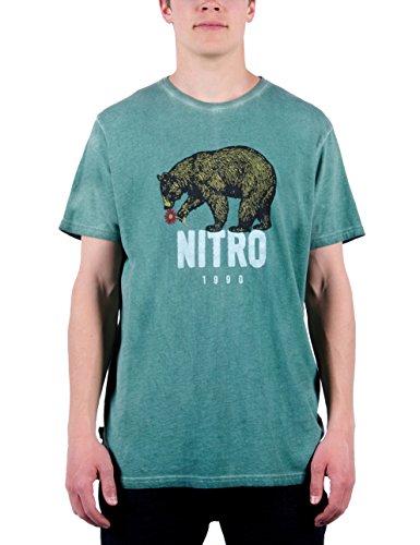 Nitro Herren T-Shirt Bear Tee 15 Oiled Green, S