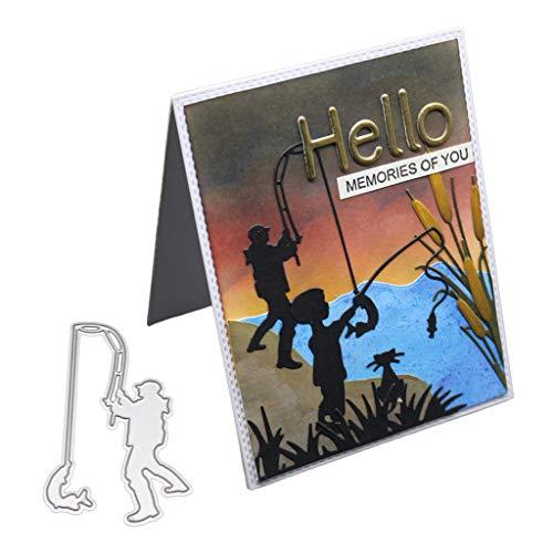 Nankod Metallstanzschablone zum Basteln, Scrapbooking, Album, Stempel, Papier, Karten, Prägung, Basteln und Dekorieren