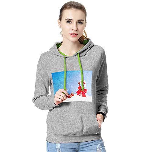 CICIYONER Weihnachten Sweatshirt Bluse Frauen Herbst Winter Print Langarm Mit Kapuze T Shirt