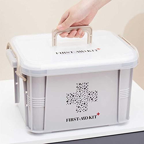 41v7wD YT L - Laurelmartina Diseño práctico para Uso en el hogar Botiquín de Primeros Auxilios Caja de plástico Botiquín de plástico Kit de Emergencia Organizador de Almacenamiento portátil