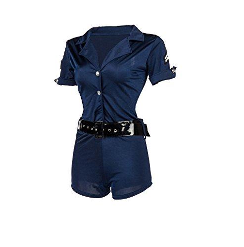 GGTBOUTIQUE Sexy Polizistin Halloween-Kostüm (S) (Halloween Kostüme Pics)