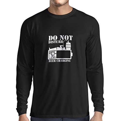 N4222L Long Sleeve Beer Charging T-Shirt (Small Black White)