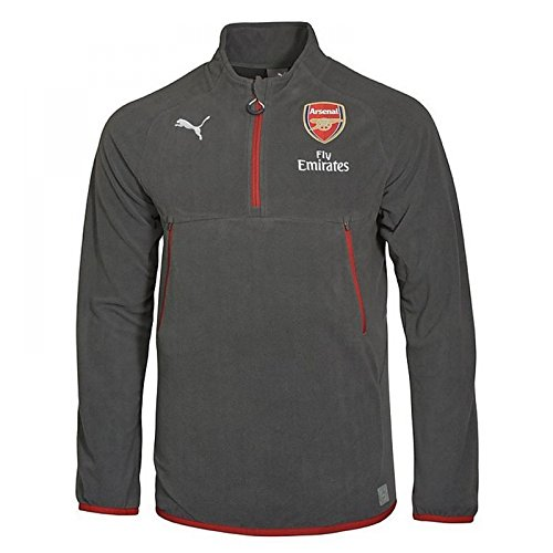 2017-2018 Arsenal Puma Coach Training Fleece (Grey) (Training Shirt Arsenal)