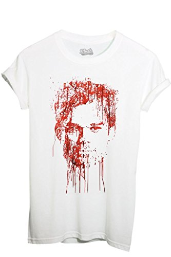 T-shirt dexter blood - film by mush dress your style - uomo-l-bianca