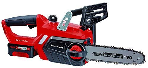 Einhell 4501760 GE-LC 18 Li Kit - Motosierra eléctrica, batería Power X-Change, lubricación automática, longitud de corte 23 cm, velocidad de corte 4.3 m/s, 2000W , 18 V