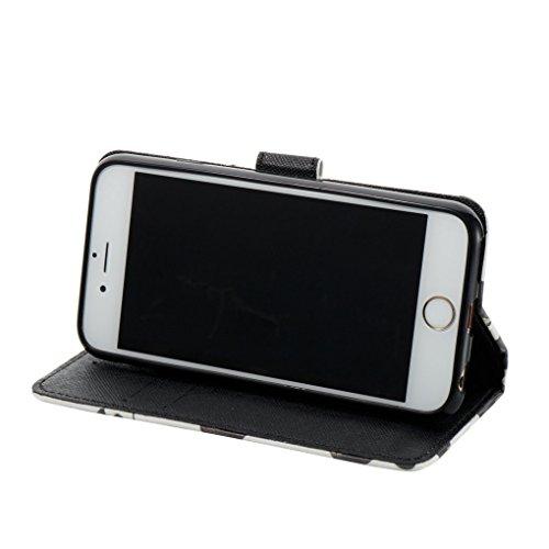 "Apple iPhone 6 Plus / 6S Plus 5.5"" Hülle, SATURCASE Schönes 3D Muster PU Lederhülle Ledertasche Magnetverschluss Flip Cover Brieftasche Case Handy Tasche Schutzhülle Handyhülle Hülle mit Standfunktion Muster-5"