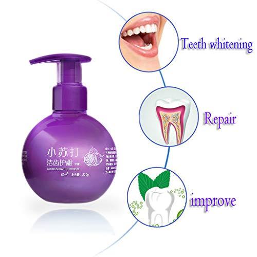 leckenentfernung Gel Zahnpasta, Intensiv Whitening Zahnpasta Kampf Zahnfleischbluten, Mundpflege, Drücken Pumpenverpackung (Lila) ()