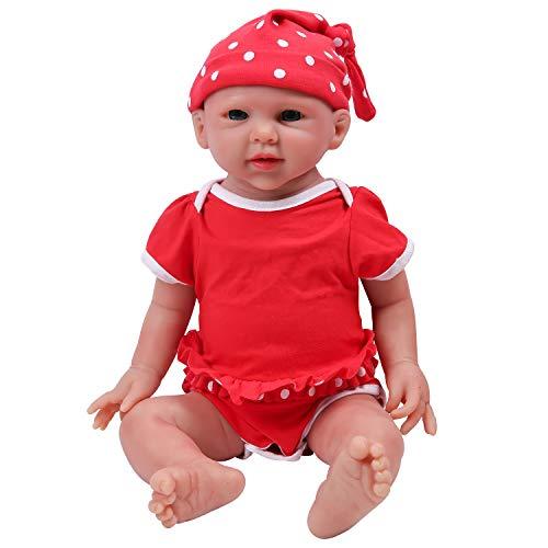 IVITA Reborn Poupée Réaliste Bébé Poupée Vivante Bébé Poupée à la Main Réaliste Yeux Bleus Doux Vif Bébé Poupée Silicone Corps Complet Fille Toddler (WG1520-48cm-3690g-Mädchen)