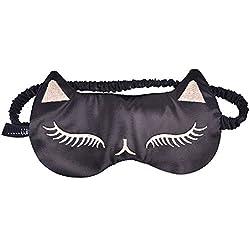 Dormir de Seda Máscara de ojo para las mujeres rosa negro rojo, sexy cat Girl Sleep máscara, bloquea la luz, suave, de doble cara 100% Pure Seda