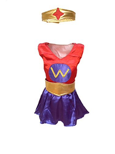 KFD Wonder Girl fancy dress for kids,Super Hero Costume for annual function/theme party /competition/Stage Shows/Birthday Party Dress