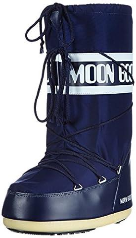 Tecnica Moon Boot Nylon Nero, Unisex-Kinder Outdoor SchneeStiefel, braun, EU 45-47