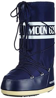 Tecnica Moon Boot Nylon Nero, Unisex-Erwachsene Outdoor Fitnessschuhe, Blau, 23-26