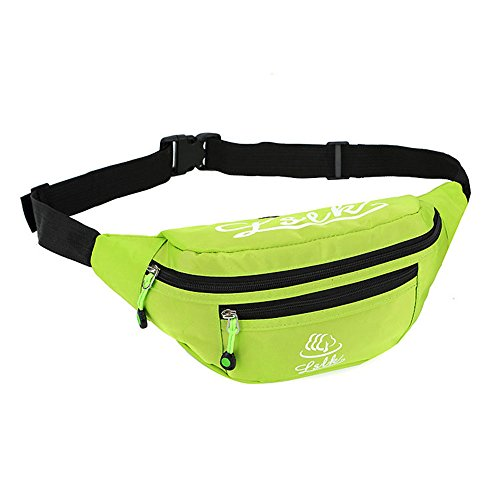 Wewod Multi-Purpose Nylon Dienstprogramm Hüfttasche Camping Wandern Tasche (Lila) Grün