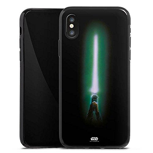 Apple iPhone X Silikon Hülle Case Schutzhülle Star Wars Merchandise Fanartikel Lichtschwert Silikon Case schwarz