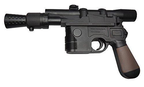 Wars Han Solo Blaster DL-44 (schwarz mit braun Griff) (Han Solo Blaster Spielzeug)