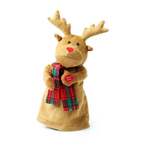 Christmas Shop Singendes Rentier Rudolph (Einheitsgröße (25 cm)) (Braun)