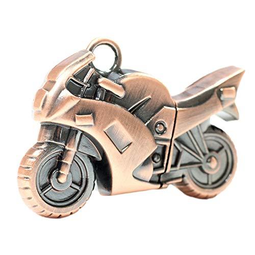 Kentop - chiavetta usb 2.0 a forma di moto, 32 gb, colore: bronzo 8gb