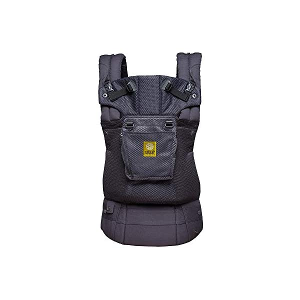 SIX-Position, 360° Ergonomic Baby & Child Carrier by LILLEbaby - The Complete Airflow (All Charcoal) Lillebaby ERGONOMIC: Perfect for newborns. No insert needed. COMFORT: Voted most comfortable baby carrier. SIX (6) POSITIONS: Front inward (fetal, infant, or toddler settings), front outward, hip or back carry. 7 - 45 lbs. 1