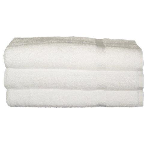 RSVP von baltischer Leinen 100Prozent ringgesponnene Baumwolle 3er Pack Badelaken, 35von 178cm, weiß (Weiße Badelaken)