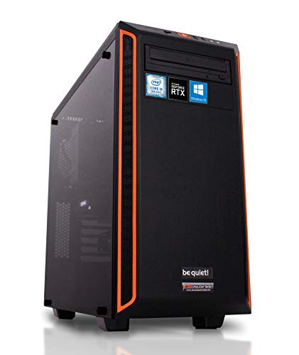 dercomputerladen Gaming PC Pure Base 600 Intel i9-9900KF 8x3.6 GHz - 480GB SSD & 2TB HDD, 32GB DDR4, RTX2080 Super 8GB, WLAN, Windows 10 Pro Spiele Computer Rechner