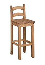Mercers Furniture Corona Bar Stools - Pine, 1 Pair