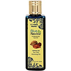 Blue Nectar Ayurvedic Anti Cellulite Oil and Ayurvedic Slimming Oil for burning fat, weight loss and firmer skin, 100ml