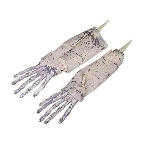 CTGVH 1 Set Simulation Gruselige Geister Lebensgröße Hände Requisiten Halloween Horror Skleton Hand Weiß/Schwarz