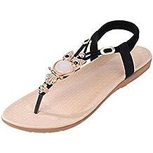 Encounter Femme Fille sandales Bohémien Plates Chaussures Été Tongs Perles de Hibou Clip Toe