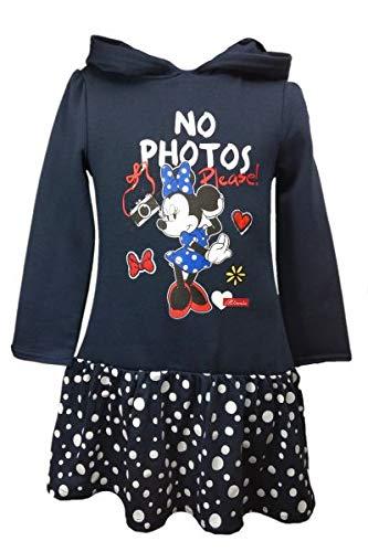(Disney Minnie Mouse Mädchen Kapuzen Kleid~Rüschenkleid~Gr. 98,104,110/116,122/128 Größe 98)
