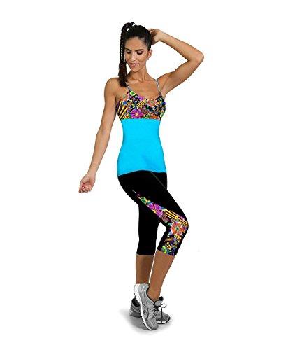 Fliegend donna 3/4 leggings vita alta pantaloni da yoga stampa pantaloni sportivi push up collant elastici leggins pantaloni da jogging fitness super morbido confortevole