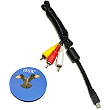 HQRP Cavo AV Mini USB a 3 RCA per Canon PowerShot ELPH 100 HS/110 HS/135/140 IS/150 IS/160/170 IS/340 HS/350 HS