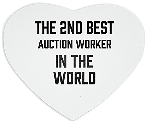 THE 2ND BEST Auction Worker IN THE WORLD heart mousepad