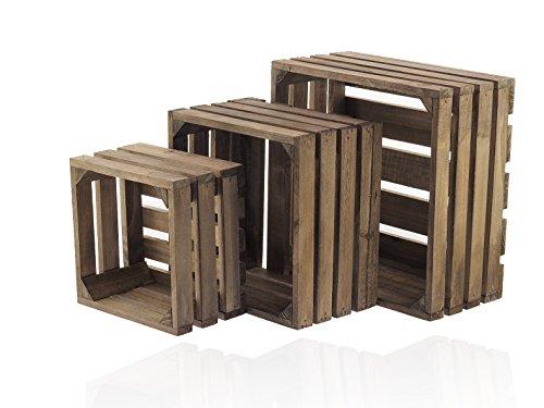 Holzkiste 3 Set