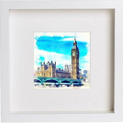 london-the-palace-of-westminster-framed-artwork-picture-photo-memorabilia-frame-unique-gift-25x25-cm