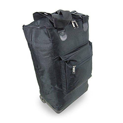 Bolsa-de-equipaje-de-mano-con-ruedas-Bolsa-de-vuelo-plegable-con-ruedas-35-litros-54x38x19-negro
