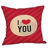 Tohole Valentinstag Sofa Umarmung Kissenbezüge Deluxe Kopfkissenbezüge Mikrofaser Kissenbezüge Set aus weichen, gemütlichen Wrinkle Fade Fleckenbeständig 45 x 45 cm