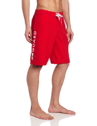 Speedo Men s Guard Flex Waist 20 Inch Board Shorts Red Small