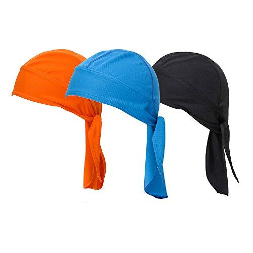 Vertvie 3 Stück Kopftuch Atmungsaktiv Sports Bandana Cap Bikertuch Bandanas Hat...