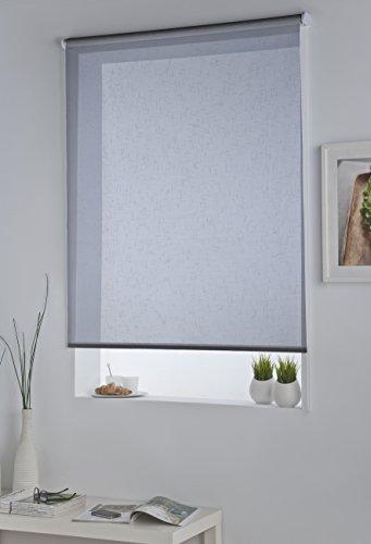 DECORACION NUEVO ESTILO-Estor enrollable ISABELA en tejido translucido de color 01 Blanco, medida 150 x 230 (varias medidas y