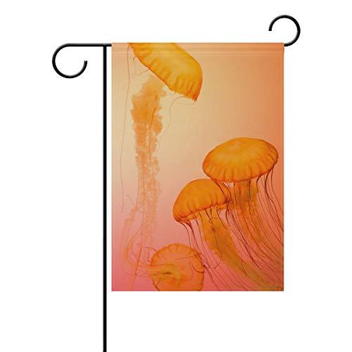 REFFW Bandera jardín Doble Cara Medusa Animales acuáticos