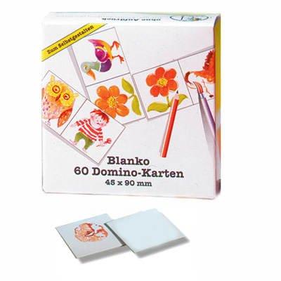 60 Blanko-Domino-Karten, 4,5x9 cm -
