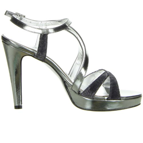Vista Damen Sandaletten grau Grau