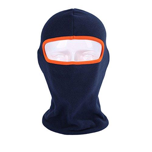 ecyc Thermo Fleece mit Kapuze Sturmhaube Warm Ski Bike Wind Stopper Full Face Maske Nackenwärmer für Winter Outdoor-Aktivitäten, Herren damen, A07:Royal Blue 3 (Royal Herren Maske)