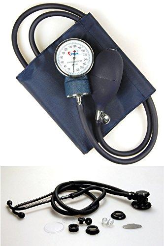 Valuemed Blutdruckmessgerät + Sprague Rappaport Stethoskop im Paket medizinische Profis Aneroid Blutdruckmessgerät Pro CE NHS-Einheit + Stethoskop im Set