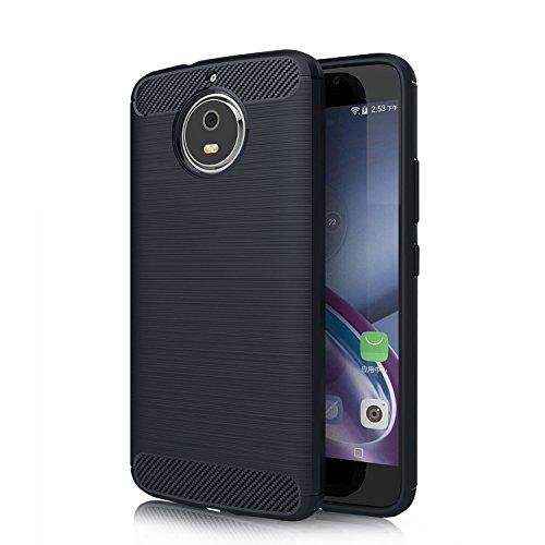 iphone 8 Hülle, KuGi iphone 8 Schutzhülle Kohlenstoff -fasern Cover Hülle Case für Apple iphone 8 Smartphone (Blau) Blau