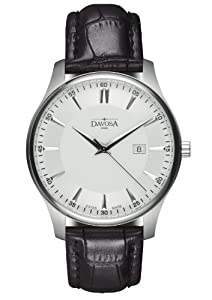 Reloj Davosa 16246615 de cuarzo para hombre con correa de piel, color negro de Davosa